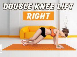 Cách giảm mỡ 2 bên hông cực nhanh với Double Knee Lifts