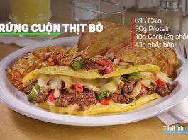 Cách làm món trứng cuộn thịt bò giàu protein cho dân tập gym