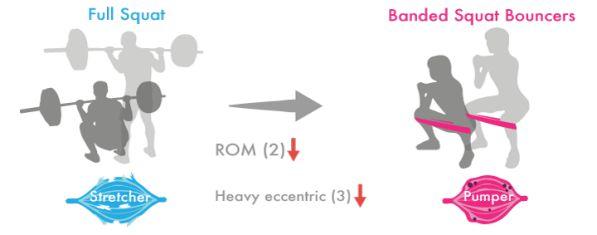 Hạ yếu tố (2) và (3) sẽ khiến bài tập stretcher trở thành bài tập pumper