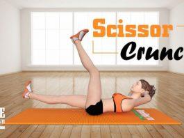 Để có cơ bụng nữ đẹp, các bạn gái cần phải tập Scissor Crunch