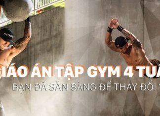 Giáo án tập gym 4 tuần để tăng cường cơ bắp tối đa cho nam