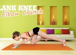 Plank Knee to Elbow Crunch