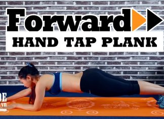 Bài tập Plank cho nữ mới tập với Plank chạm tay tới trước