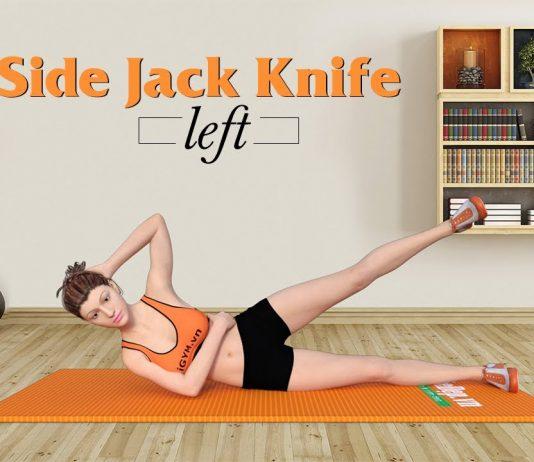 Giảm mỡ hai bên hông với Side Jack Knife cho vòng eo chuẩn từng centimet