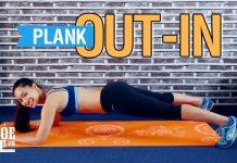 Plank Out - In | Bài tập Plank giảm cân với chân ngoài và trong