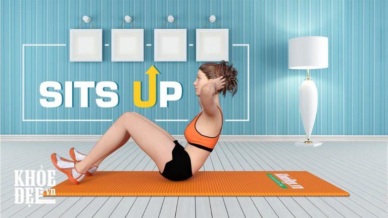 Hướng dẫn tập gập bụng đúng cách cho nữ với bài Sit Ups