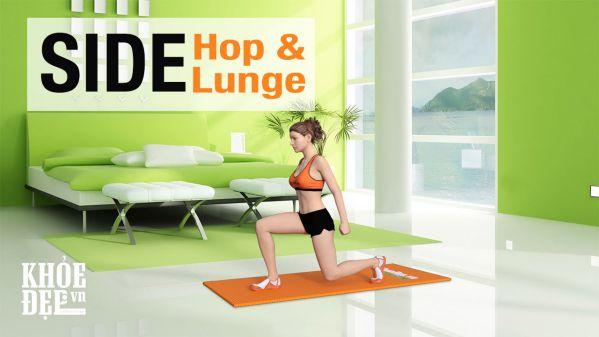 Side Hop Lunge - Giảm mỡ thon đùi cấp tốc cho bạn gái