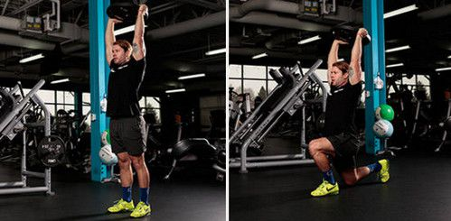 Walking Lunge With Overhead Weight