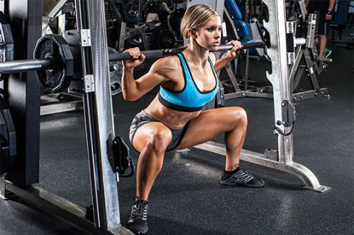 Smith Machine Sumo Squat