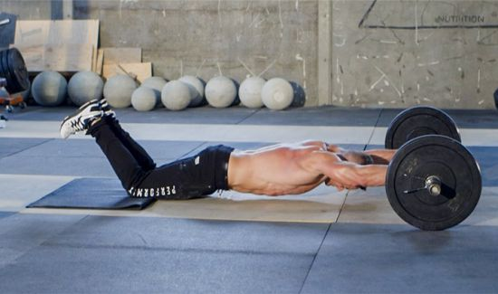Barbell AB Roll out