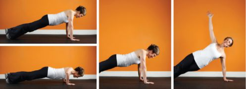 Pushup With Side Plank Rotation