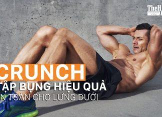Hướng dẫn tập gập bụng tại nhà để có cơ bụng 6 múi với Crunch