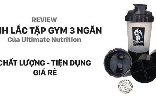 Review Bình lắc tập gym 3 ngăn tiện lợi Ultimate Nutrition
