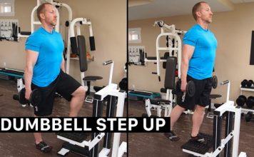 Dumbbell Step Up - Tập đùi trước cho nam hiệu quả tại nhà siêu dễ