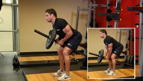 Bent Over Two Arm Long Bar Row