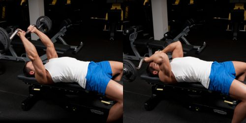 EZ Bar Triceps Extensione