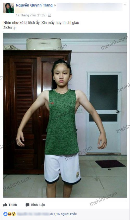 Nguyễn Quỳnh Trang - Cô gái 10x với bức ảnh tập xô nghìn like gây bão mạng