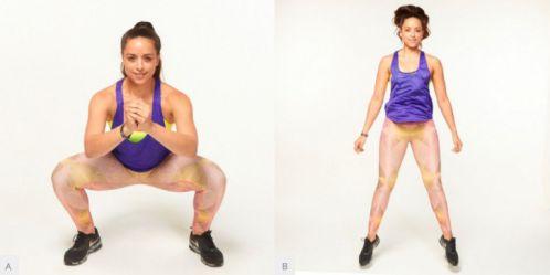 Wide Jump Squats - bài tập khắc phục hội chứng mông chết
