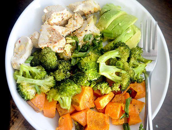 Gà, Bông cải xanh, và khoai langNướng - 21 cách chế biến ức gà cho gymer cực ngon ăn bao chất [P3]