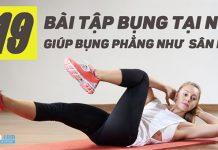 19 bài tập bụng nữ tại nhà để bụng trên bụng dưới thẳng tắp