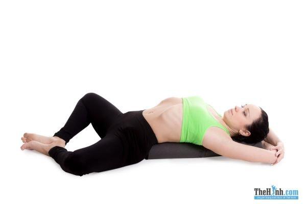 Reclined Bound Angle Pose -Supta Baddha Konasana