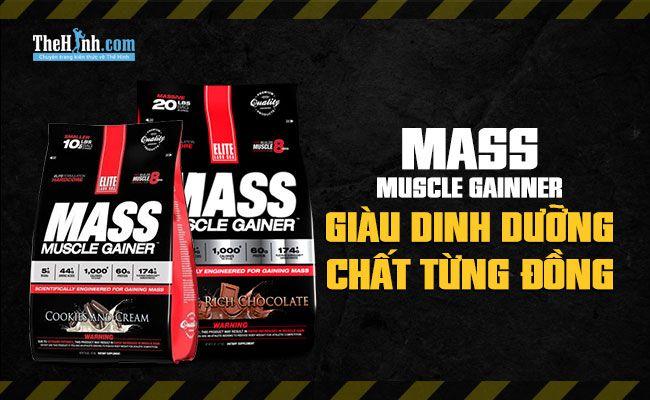 Elite Labs Mass Muscle Gainer - Sữa tăng cân giàu dinh dưỡng, đáng giá tiền