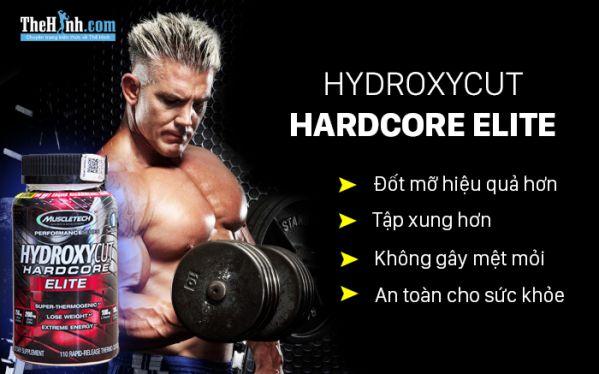 """Hydroxycut Hardcore Elite - Tập xung hơn, đốt mỡ """"kinh"""" hơn"""