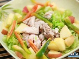 Tối nay ăn gì ? Món ngon với gà Salad táo đỏ để ăn giảm cân