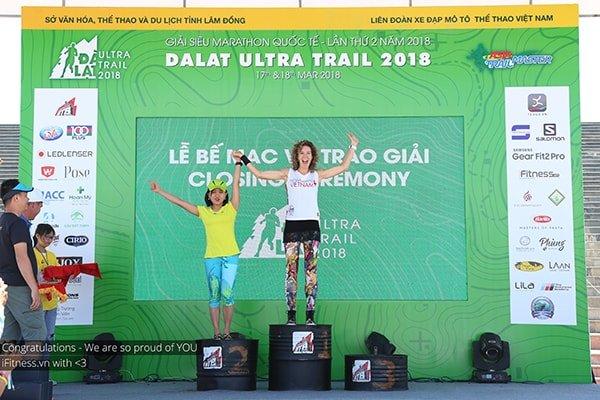 Các VĐV Nữ chiến thắng giải 70km - Dalat Ultra Trail 2018