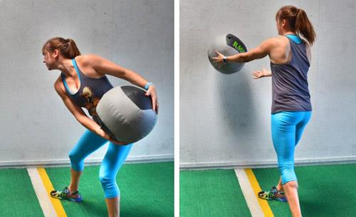 Medicine Ball Rotational Throw
