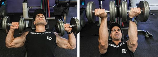 180-Degree Twisting Dumbbell Bench Press