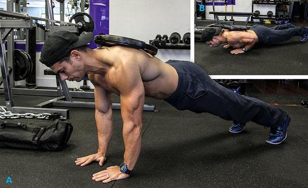 Close-Grip Weighted Push-Up