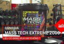 Review Mass Tech Extreme 2000 - Siêu sữa tăng cân của MuscleTech