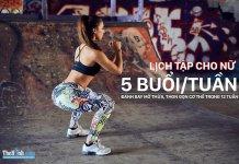 Lịch tập gym cho nữ giảm mỡ 5 buổi 1 tuần để trở nên thon gọn hơn