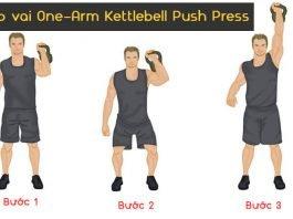 Bài tập vai One-Arm Kettlebell Push Press