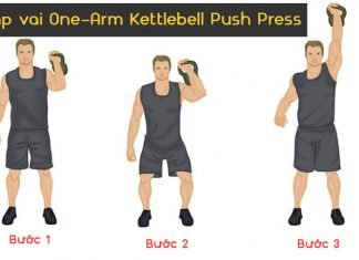 Bài tập vai One-Arm Kettlebell Push Press
