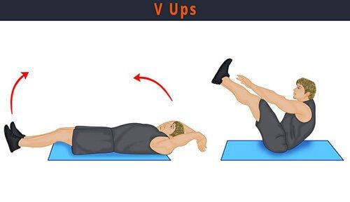 Gập bụng - V-Ups
