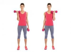 Dumbbell Alternate Bicep Curl