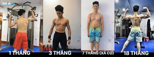 9x tăng chiều cao đến 12cm nhờ tập gym, ai nói tập gym là bị lùn nữa không ?