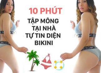 10 phút tập mông bụng tại nhà cho bạn gái tự tin diện Bikini