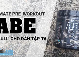 """Đánh giá Pre Workout Abe của Applied Nutrition - """"Red Bull"""" cho dân tập tạ"""