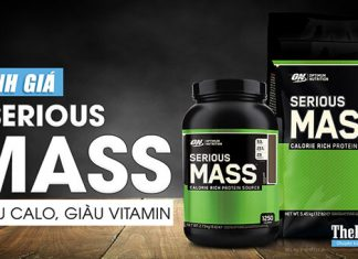 Đánh giá sữa tăng cân Serious Mass của ON - Giàu calo, giàu Vitamin, tăng cân dễ dàng