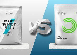 Giữa Whey Protien của Myprotein và Bulk Powders thì nên chọn ai?