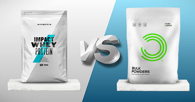 Giữa Whey Protein của Myprotein và Bulk Powders thì nên chọn ai?
