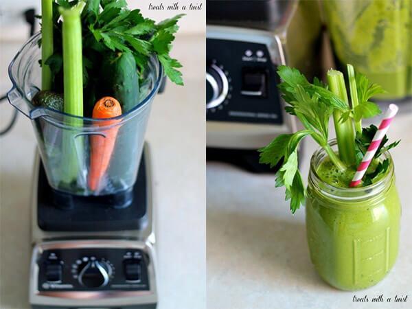Công thức sinh tố rau xanh