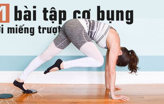 11 bài tập cơ bụng với miếng trượt cho cơ bụng 6 múi