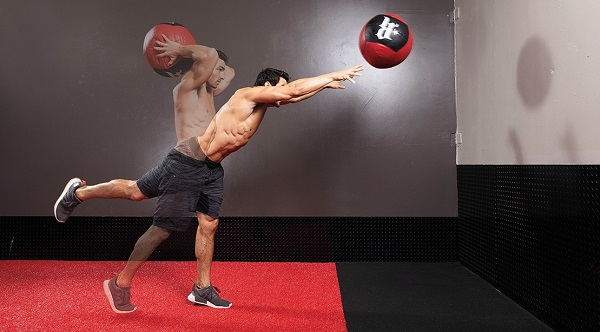 Medicine Ball Overhead Extension Throw