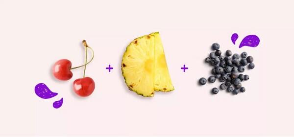Nhóm chống viêm: Cherry, dứa, việt quất