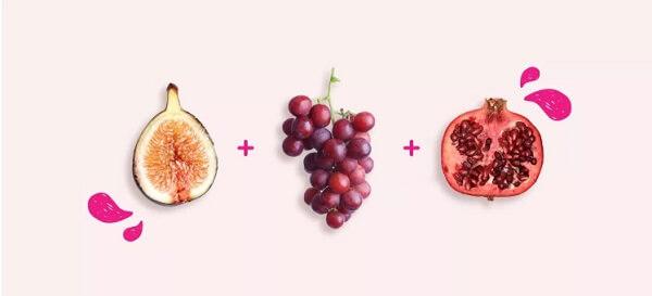Nhóm chống oxy hóa: Vả tây (Sung) , nho đỏ, lựu