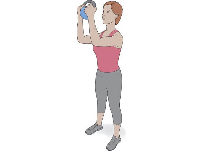 Step-Back Lunge with Kettlebell